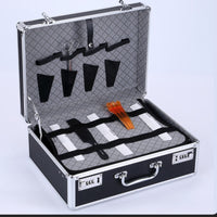 Barber Carrying Case Storage Toolbox Retro Portable Salon Stylist Bag Password Lock Suitcase Box Hair Styling Organizer