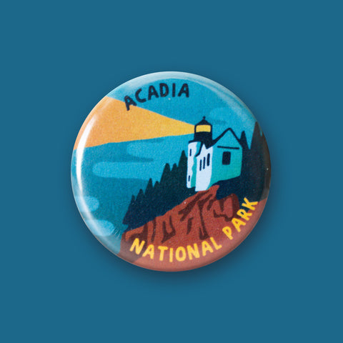 Acadia National Park Merit Badge Button