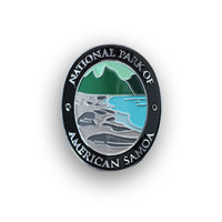 National Park Of American Samoa Traveler Walking Stick Medallion