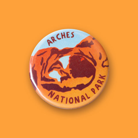 Arches National Park Merit Badge Button