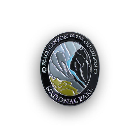 Black Canyon Of The Gunnison National Park Walking Stick Medallion
