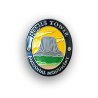 Devils Tower National Monument Walking Stick Medallion