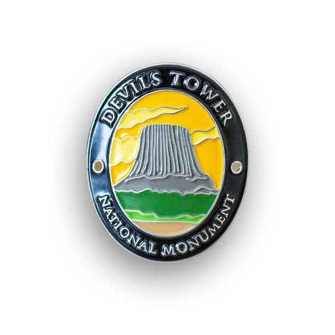 Devils Tower National Monument Traveler Walking Stick Medallion