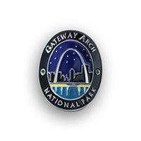 Gateway Arch National Park Walking Stick Medallion