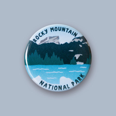 Rocky Mountain National Park Merit Badge Button