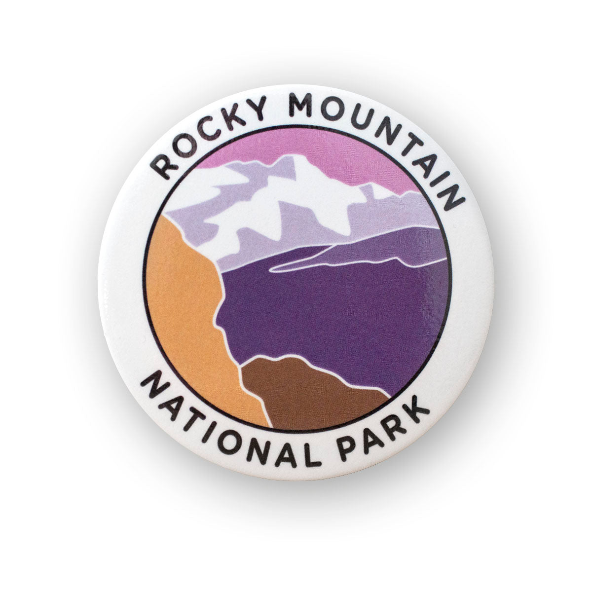Rocky Mountain National Park Metal Magnet