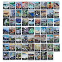 62 National Park Traveler Patch Complete Collection