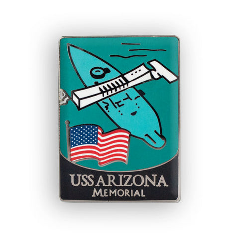 USS Arizona Memorial Traveler Pin