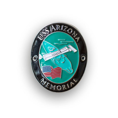USS Arizona Memorial Traveler Walking Stick Medallion