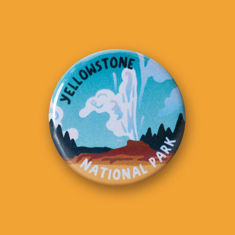 Yellowstone National Park Merit Badge Button