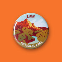 Zion National Park Merit Badge Button