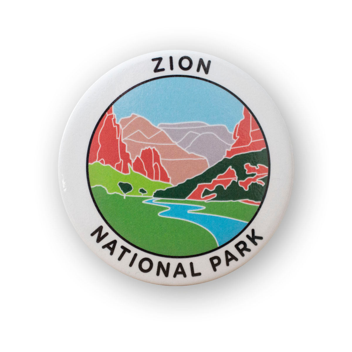 Zion National Park Metal Magnet