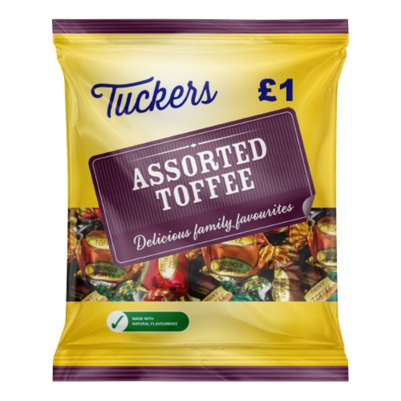 Tuckers Assorted Toffees 150g