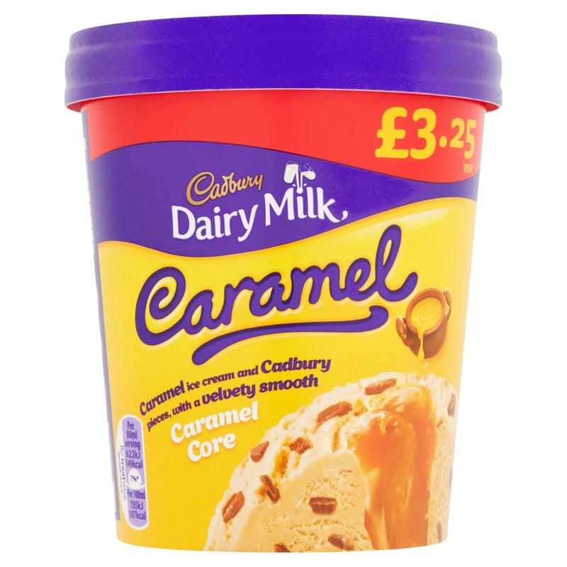 Dairy milk Caramel Ice Cream tub 480ml