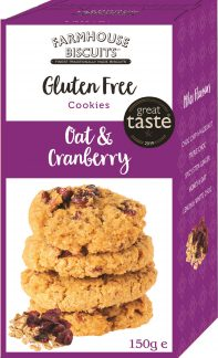 Farmhouse Biscuits Gluten Free Oat & Cranberry 150g