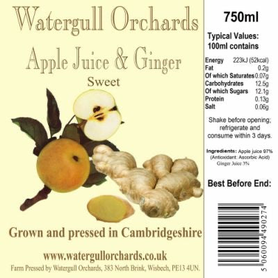 Watergull Orchards Apple Juice & Ginger 240ml