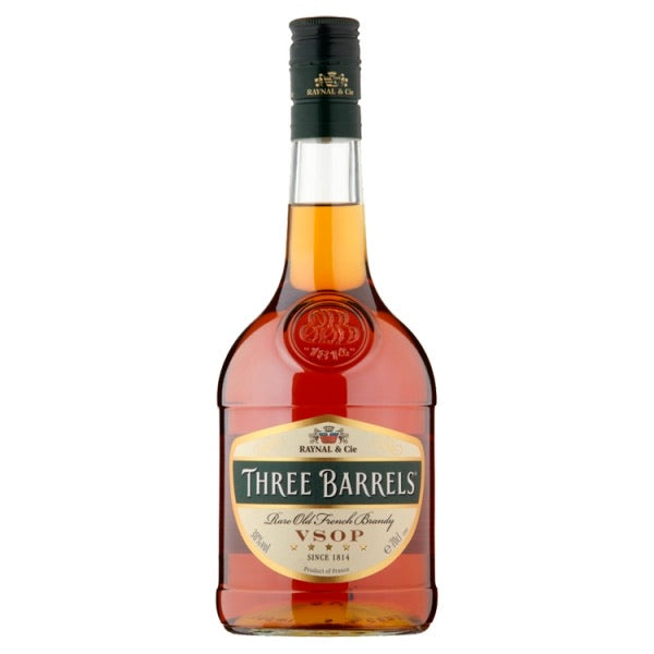 Three Barrels Rare Old French Brandy VSOP 70cl