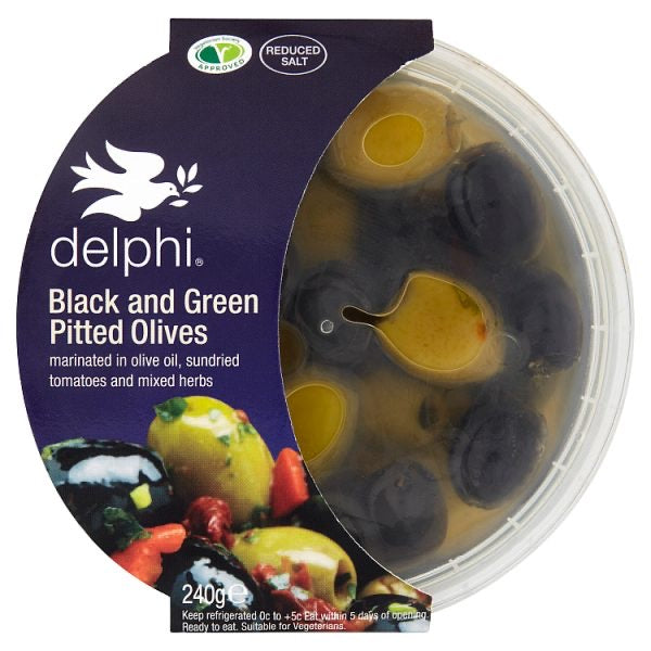 Black and Green Pitted Olives