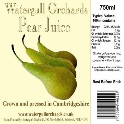Watergull Orchards Pear Juice 750ml