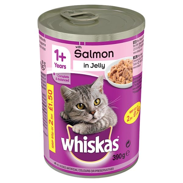 Whiskas Salmon in Jelly can