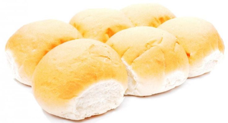 Bakery Soft Round White Rolls 4 pack