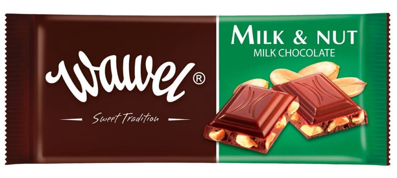 Wawel Milk and Nut Bar