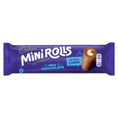 Cadbury Mini Rolls 2 pack