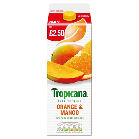 Tropicana Orange and Mango Carton