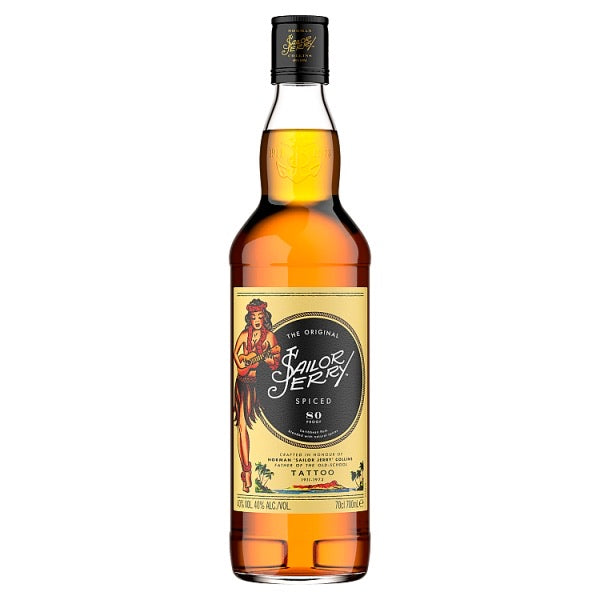 Sailor Jerry The Original Caribbean Spiced Rum 70cl
