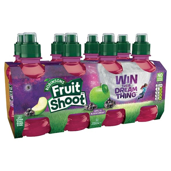 Robinsons Fruit Shoot Apple & Blackcurrant 8x 200ml