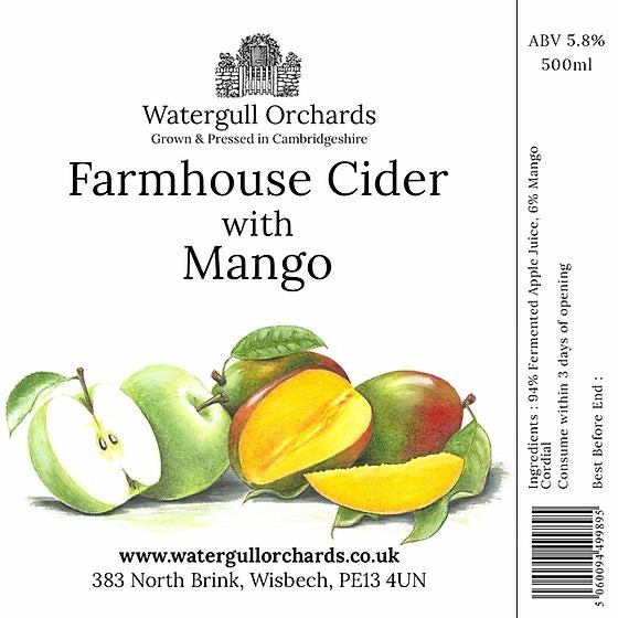 Watergull Orchards Farmhouse Cider- Mango
