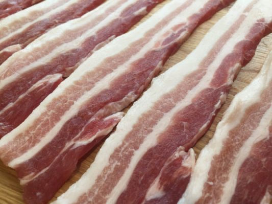 Green Streaky Bacon (unsmoked) 250g
