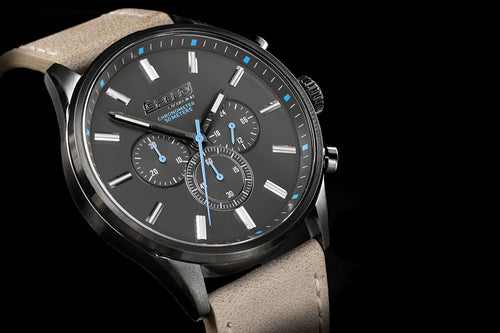 Gunmetal Tan Leather Chrono - 45mm