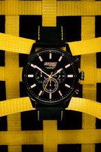 Load image into Gallery viewer, Black Yellow Leather Chrono - 45mm