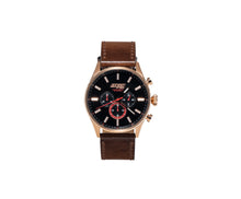 Load image into Gallery viewer, Rose Gold Brown Leather Chrono - 45mm