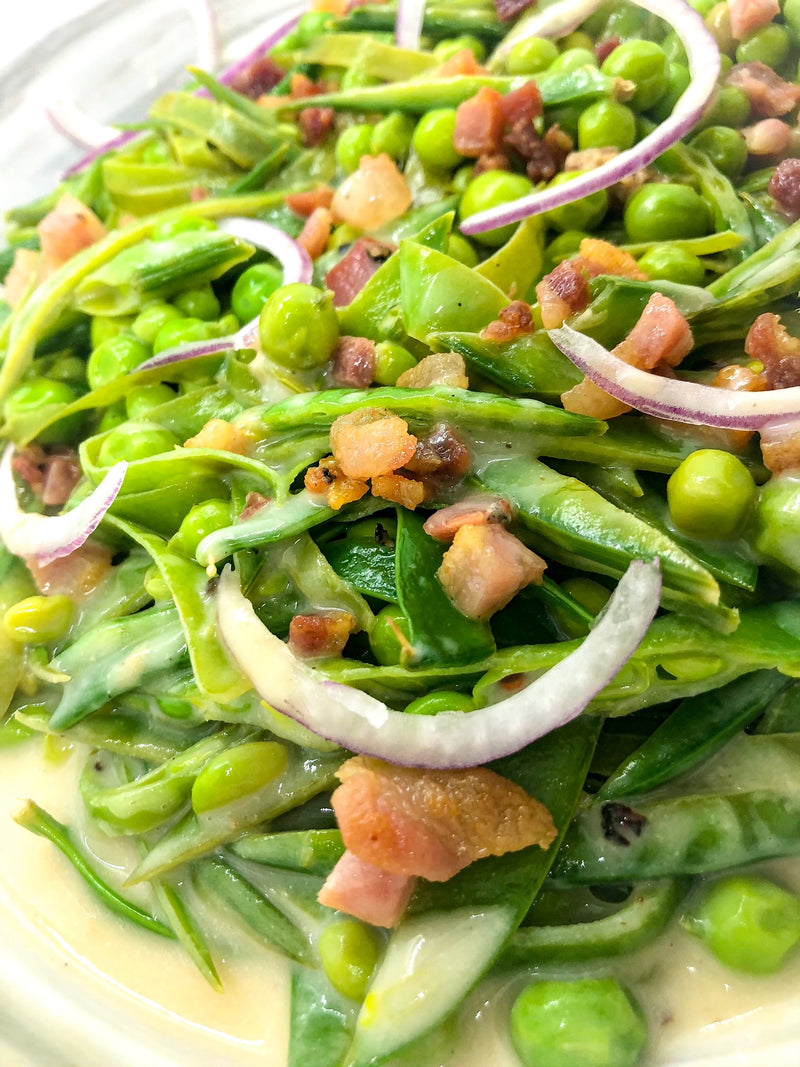 Creamy Pea Salad with Pancetta