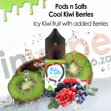 Pods nSalts - Cool Kiwi Berries 25mg (30ml/60ml)