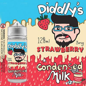 One Cloud Industries - Diddly's Strawberry Condensed Milk 3mg (120ml)