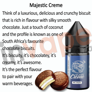 Majestic Vapor - Creme 25mg - 35mg (Luxury Series) 30ml