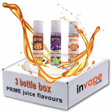 Load image into Gallery viewer, PRIME Mix 3 Freebase Flavours box (0mg - 18mg)