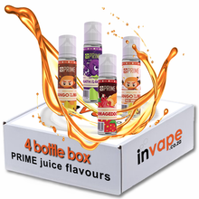 Load image into Gallery viewer, PRIME Mix 4 Freebase Flavours box (0mg - 18mg)