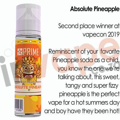 PRIME - Absolute Pineapple 0mg - 18mg (60ml)