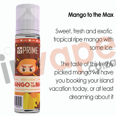 PRIME - Mango to the Max (With Ice) 0mg - 18mg (60ml)
