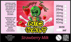 Grumpy Turtle - Strawberry Milkshake 20mg - 50mg (30ml)