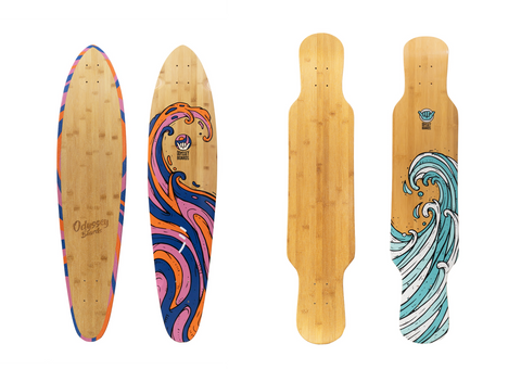longboard freestyle pintail deck