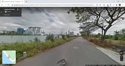 Google maps street view skyline