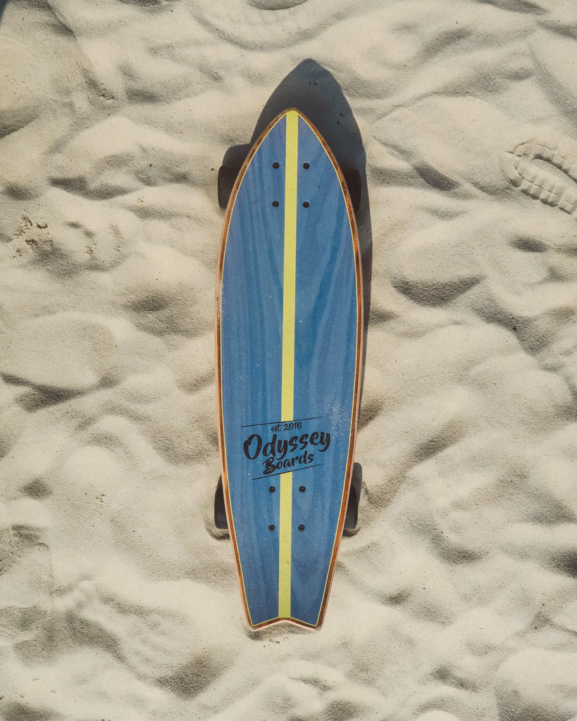 Cruiser board on sand