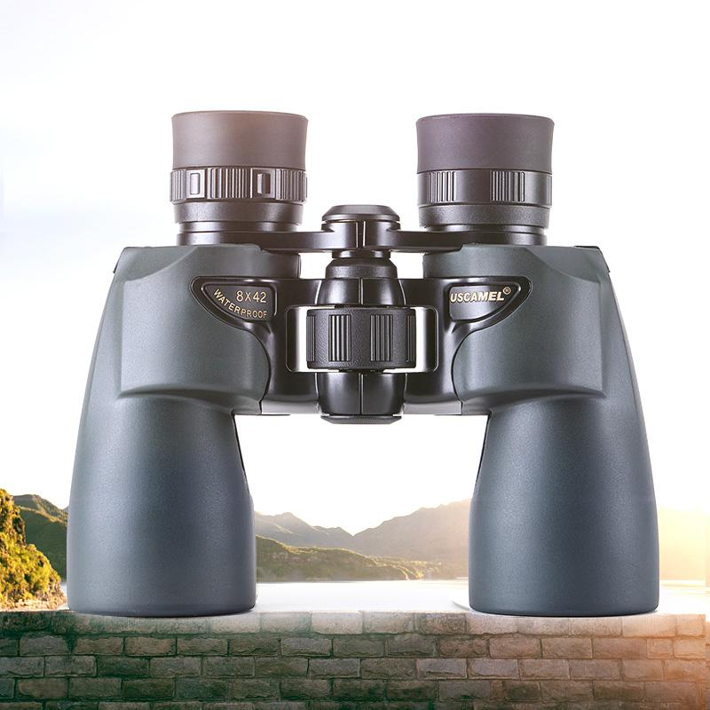 USCAMEL Binoculars 8x42 Professional Hunting Telescope Watching Birds Camping(Olive Green) - Common Panda