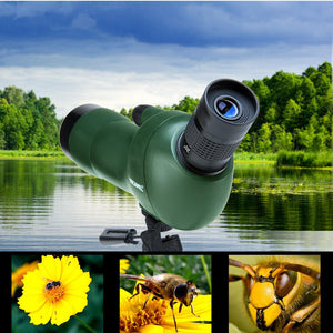 USCAMEL Bird Watching Waterproof Spotting Scope - 20-60x60 Zoom Monocular Telescope - With Tripod - with Camera Photography Ada - Common Panda