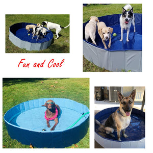 Foldable & Collapsible Swimming Bath Pool for Dogs Cats Kids - Common Panda